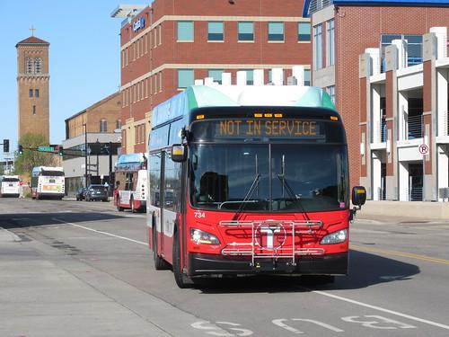 St Cloud Metro Bus 734