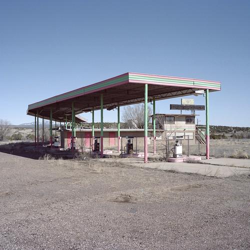 abandoned truck stop / route 66. ash fork, az. 2015.