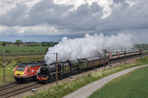 44871 + 60103 'Flying Scotsman' and 43309 at Colton