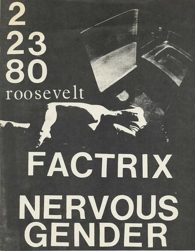 FACTRIX & NERVOUS GENDER AT THE ROOSEVELT, SAN FRANCISCO, CA 1980