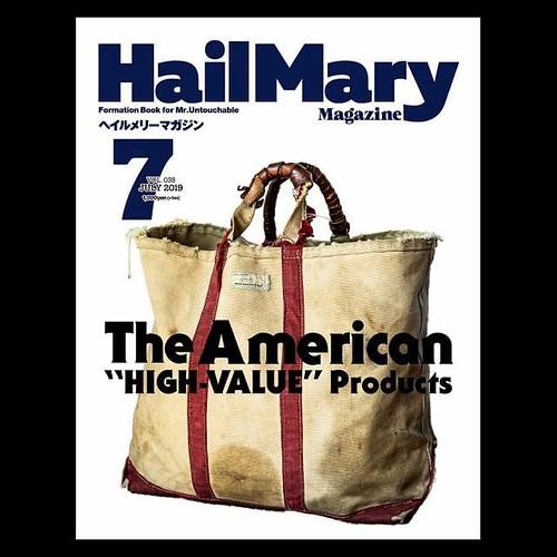 本日5/30発売の「ヘイルメリーマガジン」にご掲載いただきまして、当店関連は3ページほど載っています(^^) 全国書店・コンビニ(セブン-イレブン・ミニストップ)にて発売開始しておりますので、宜しければ探してみてください(^^) #hailmarymagazine #hailmary #american