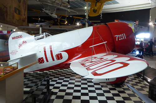 'NR2100' / 7-11  Granville Gee Bee Model R-1 Super Sportster replica San Diego Air & Space Museum 22Feb19