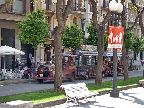 Rambla Nova, Tarragona - tourist road train - Tarraco Tren