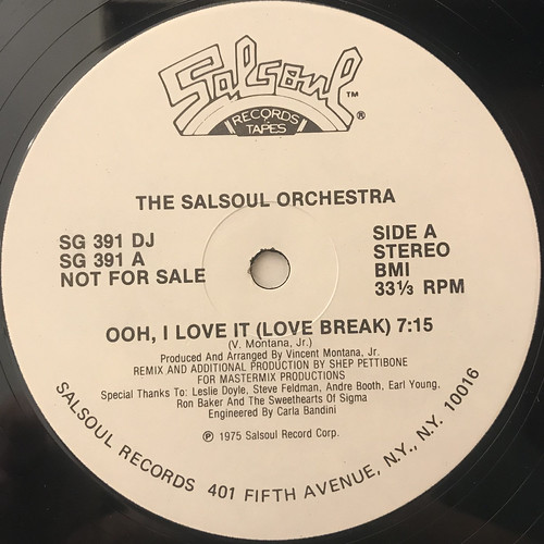 THE SALSOUL ORCHESTRA:OOH, I LOVE IT(LOVE BREAK)(LABEL SIDE-A)
