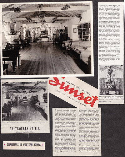 Sunset Magazine Article of Rubel Home