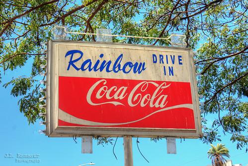 Rainbow Drive-in Coca-Cola sign - Kapahulu, Oahu, Hawaii