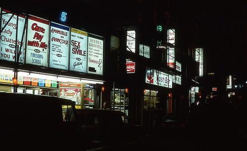 Classic moulin Cinema, Great Windmill Street, Londres 1977