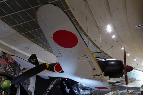 3-143 / YO-143 Mitsubishi A6M7 Type 0 Model 63 Zero cn 23186 Imperial Japanese Navy Air Service. San Diego Air & Space Museum 22Feb19