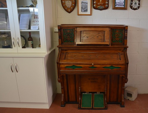 Restored organ in the Museum room of Mantung Hall, Murray Mallee Lands South Australia