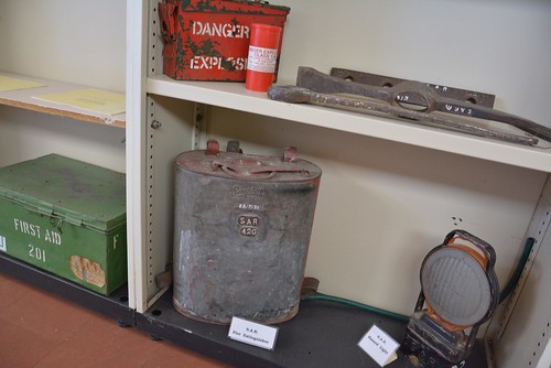 Railway memorabilia in the Museum room of Mantung Hall, Murray Mallee Lands South Australia