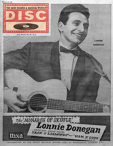 58-0222-01 - Lonnie Donegan - 'Jack O Diamonds' on the Nixa records (Disc 22nd February 1958)