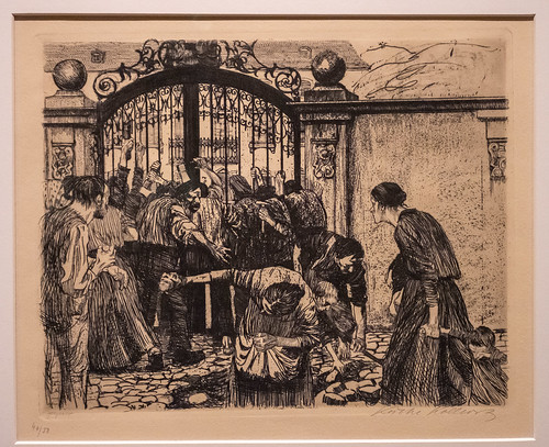 Storming the Gate, 1893-1897 Plate 5 of a Weaver's Revolt