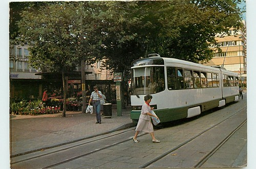 42-ST-ETIENNE STAS TRAM Pl du Peuple 1987