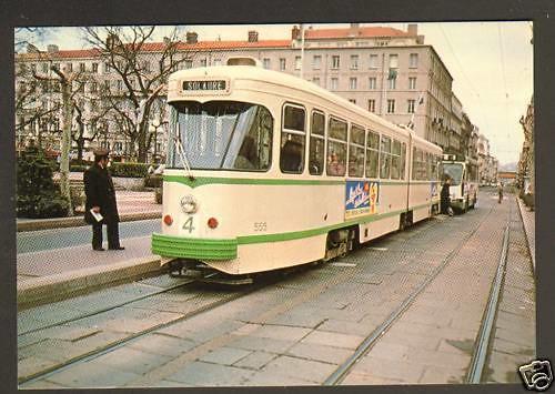 LOIRE SAINT-ETIENNE (42) TRAMWAY Ligne STAS N°4 SOLAURE à TERRASSE 1982