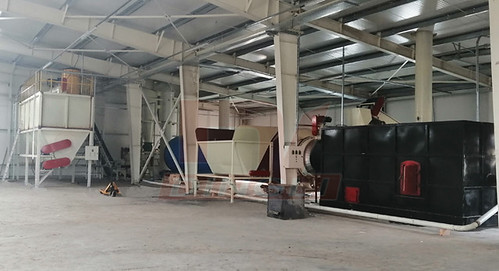 Romanian sawdust drying production line site