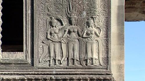 Cambodia - Temples Of Angkor - Angkor Wat - Devatas - 341