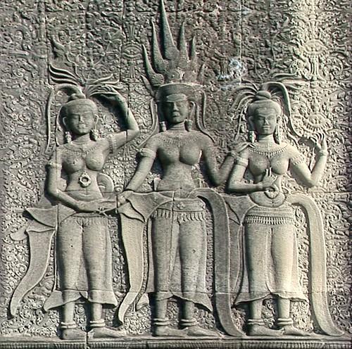 Cambodia - Temples Of Angkor - Angkor Wat - Devatas - 340