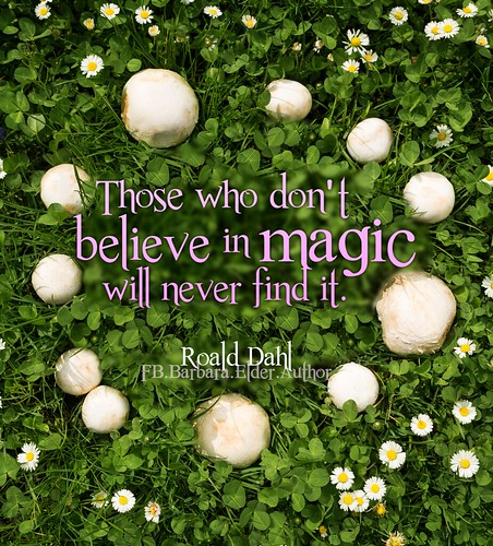 Those who don't believe in magic will never find it ~ Roald Dahl