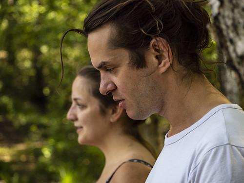 Eik und Nanna im Wald
