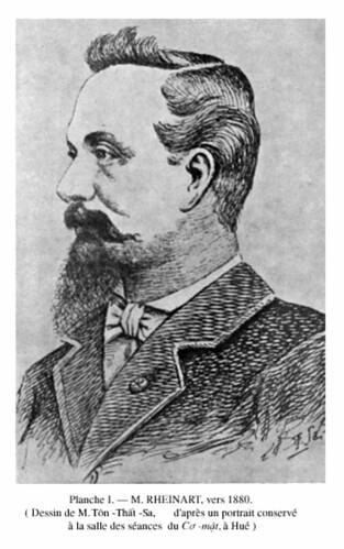 BAVH Số 1-2 -- Janvier-Juin 1943 - Ông RHEINART, Tổng trú sứ Bắc và Trung Kỳ đầu tiên, người đại diện chính quyền Pháp làm lễ phong vương cho vua Hàm Nghi ngày 17-8-1884 tại điện Thái Hòa, Huế.