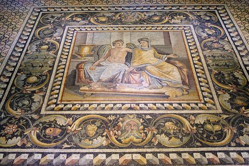 eros (aşk) ve psykhe (ruh) mozaiği / mosaic of eros (love) and psykhe (soul)