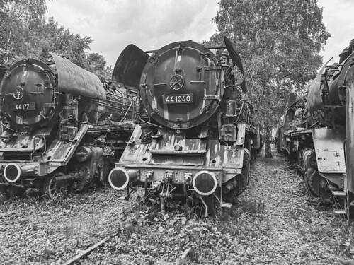 Lost Place, Dampflok, Industriemuseum, Hermeskeil, Eisenbahn, Eisenbahnmuseum, Abstellgleis, 441040