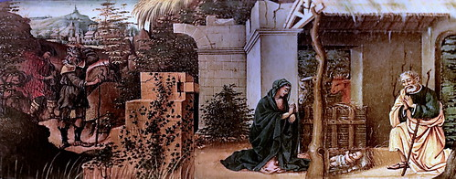 IMG_0628 Michelangelo di Pietro Membrini actif à Lucca ca 1484-1525 Adoration de l'Enfant  Adoration of the Child. ca 1505  Bonnefantenmuseum.  Maastricht.