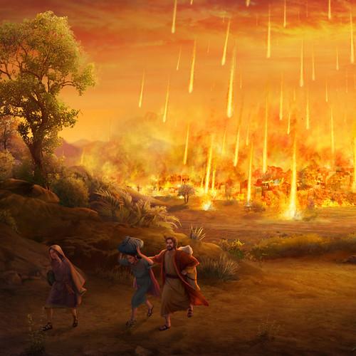 Sodoma es reducida a cenizas por ofender la ira de Dios