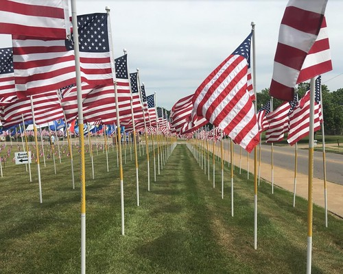 Flags of Honor at the Zanesville High School