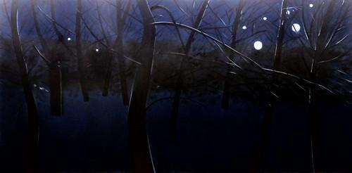 IMG_0762A Alex Katz  1927 New York Paysage de la ville. City Landscape 1995 Musée Munich  Brandhorst