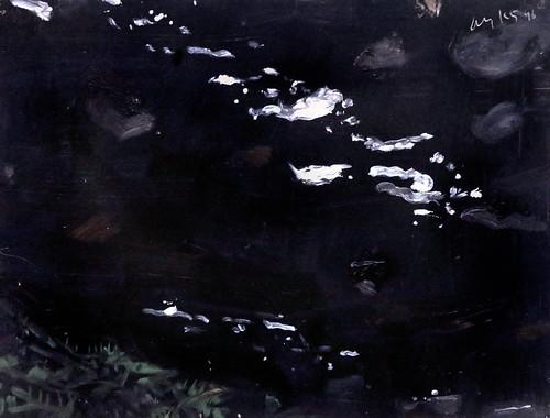 IMG_0760B Alex Katz  1927 New York Étude pour Black Brook 14 Study for black Brook 14  1999 Musée Munich  Brandhorst