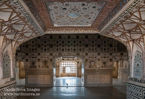 Sheesh Mahal at Amer Fort in Jaipur, India