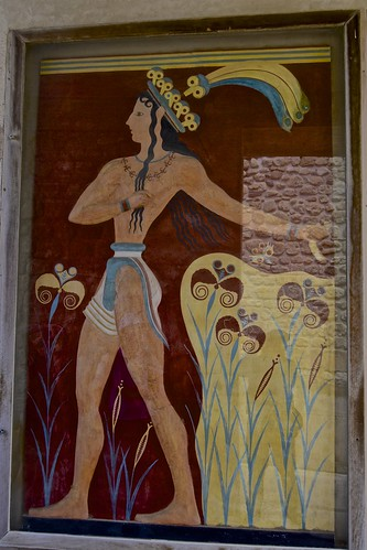 Ancient Palace of Knossos, Crete, frescoes, (1)