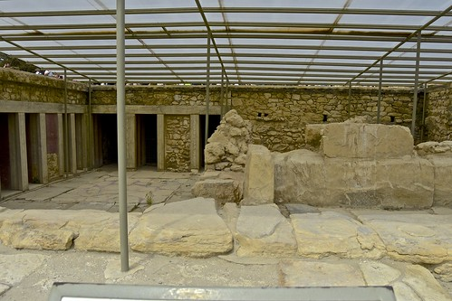 Ancient Palace of Knossos, Crete , current excavations,