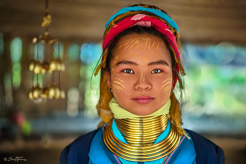 Young Padaung Long Neck Woman Thailand - Ben Heine Photography