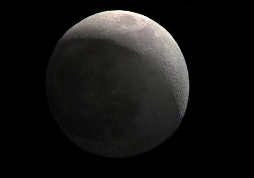 Moon's Earthshine Jun 7th 2019 through a smartphone (Montage)