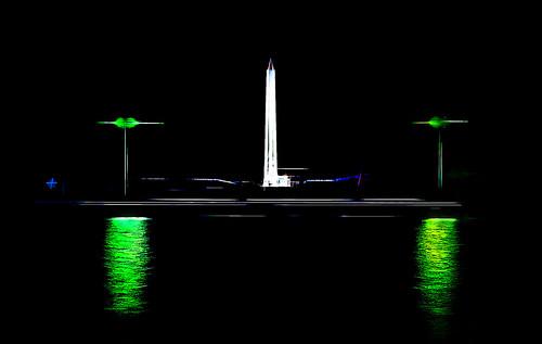 Washington Monument at Night Abstraction