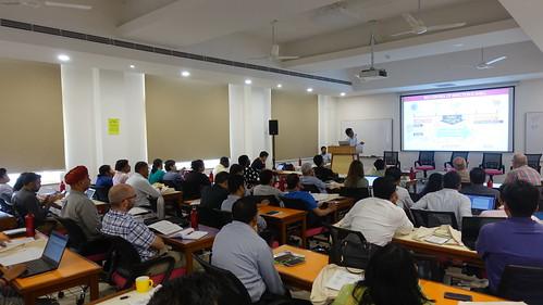 Dr Sanjay Pal presenting