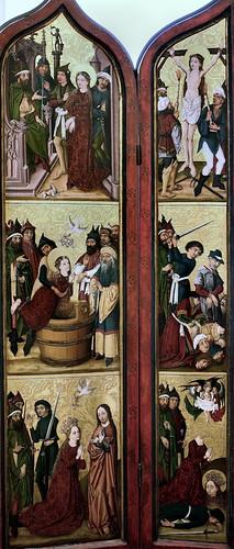 IMG_1200KZDD Maitre des Ronds de Cobourg.  Fin du 15è siècle. Strasbourg.  Retable de Sainte Marguerite. Dijon. Musée des Beaux Arts