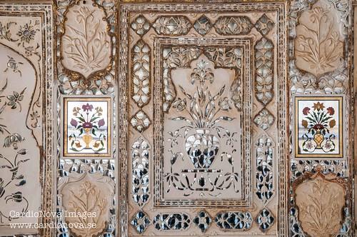 Detail from Sheesh Mahal at Amer Fort