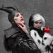 Maleficent and Cruella de Vil cosplayers at ExCeL Londons MCM Comic Con, May 2019