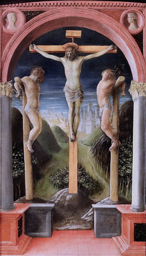 IMG_4195 Vincenzo Foppa 1427-1516 Brescia Trois crucifix  Three Crucifixes 1450 Bergamo Accademia Carrara