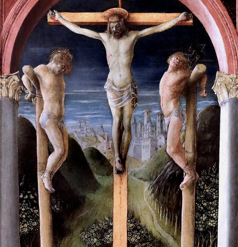 IMG_4196 Vincenzo Foppa 1427-1516 Brescia Trois crucifix  Three Crucifixes 1450 Bergamo Accademia Carrara