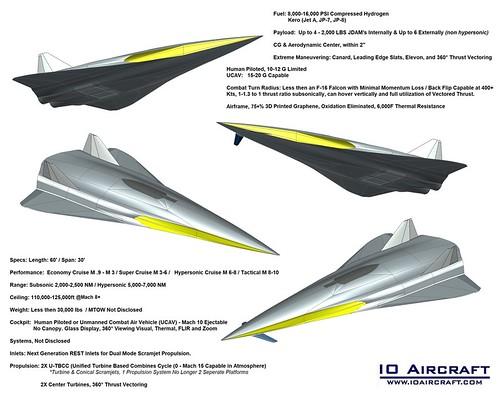 Grey Hawk - Mach 8-10 - 7th / 8th Gen Hypersonic Super Fighter Aircraft / Tactical Strike Vehicle, IO Aircraft www.ioaircraft.com
