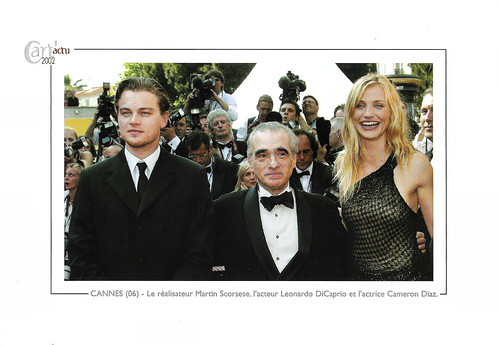 Martin Scorsese, Leonardo DiCaprio and Cameron Diaz at the Cannes Film Festival 2002