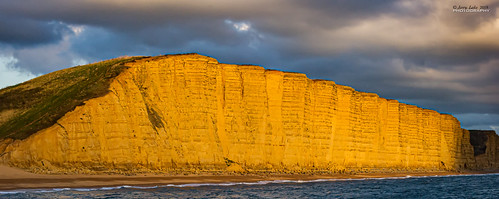 West Bay Cliff sunset