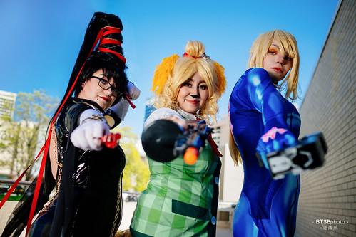 Bayonetta (ベヨネッタ), Isabelle (しずえ) & Zero Suit Samus (ゼロスーツサムス)