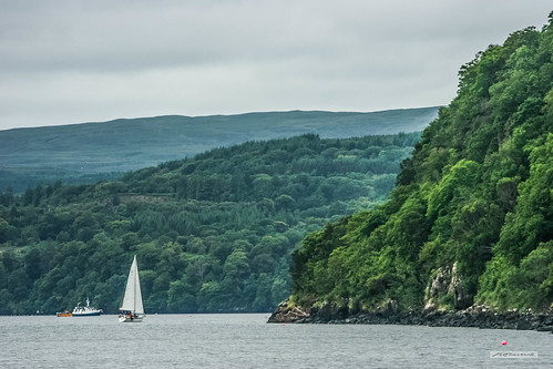 Sailing to Tobermory, Isle of Mull.