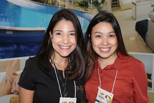 Carla da Silva e Francielle Chen, as duas do Nadai Confort Hotel & Spa