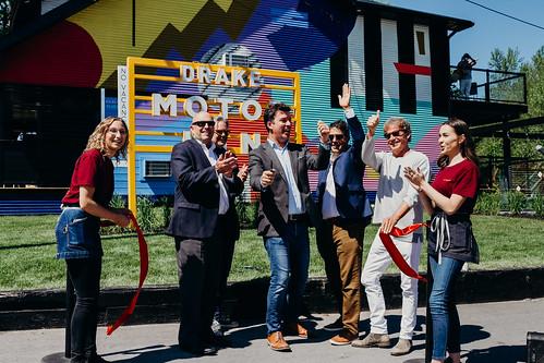 Drake Motor Inn opening